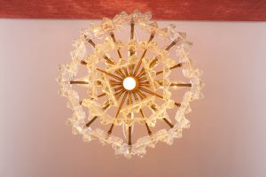 Kalmar Ice Glass Chandelier