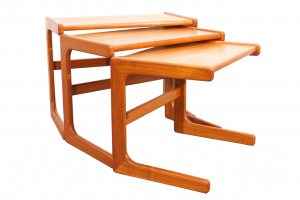 Scandinavian Modern Teak Nesting Tables