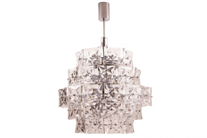 Large Kinkeldey Chandelier Chrome