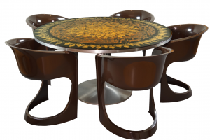 Mygge Dining Table with Steen Ostergaard Chairs