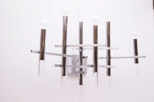 Chrome and Lucite Wall Lamp by Sciolari
