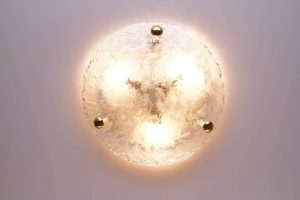 Vintage Murano Glass Flush Mount by Hillebrand
