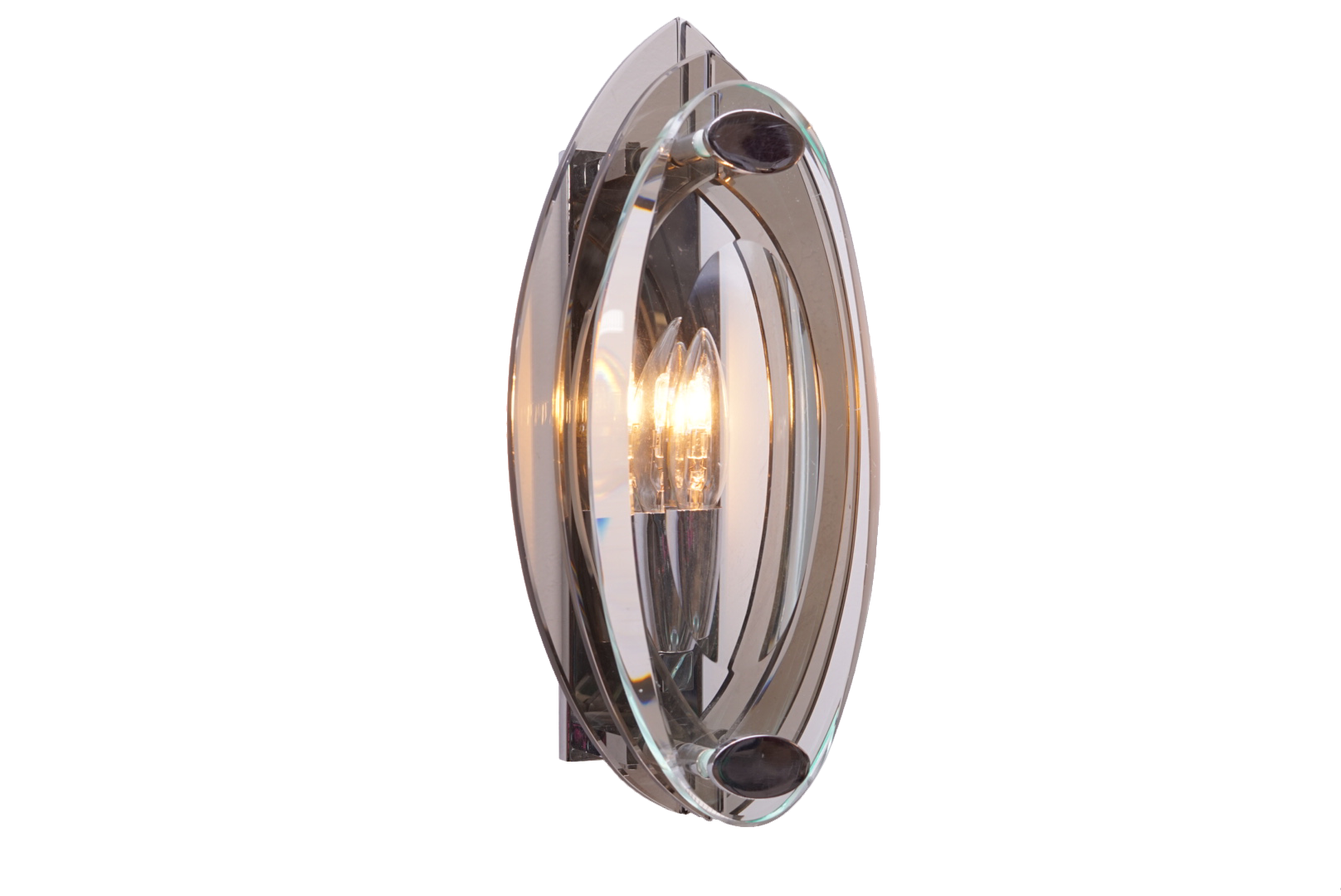 Two tone glass Veca wall sconce