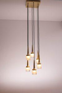 Staff Lamp with Six Pendants