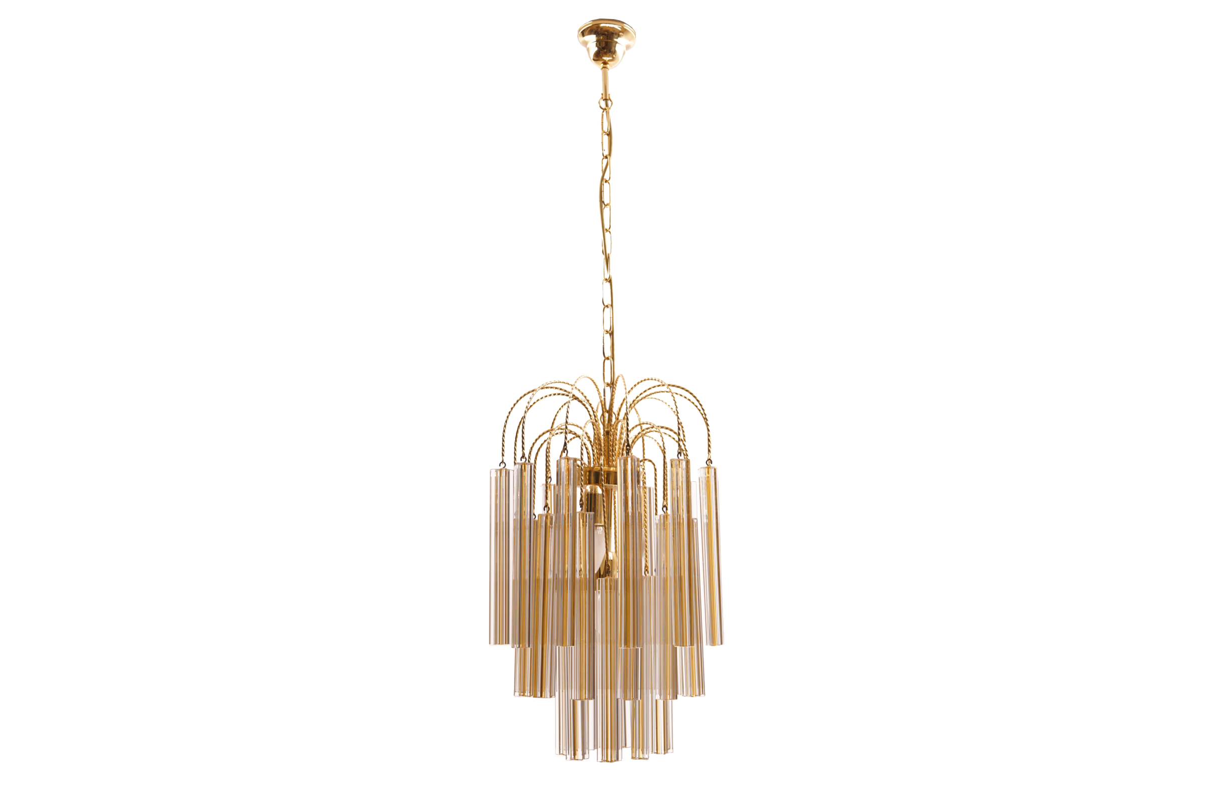 Vintage venini chandelier with two tone murano glass galerie libelle vintage venini chandelier aloadofball Images