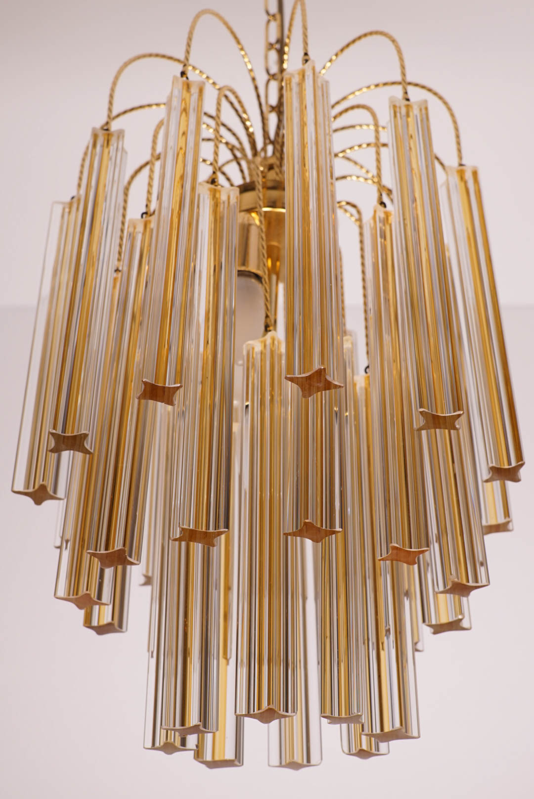 Vintage venini chandelier with two tone murano glass galerie libelle vintage venini chandelier arubaitofo Gallery