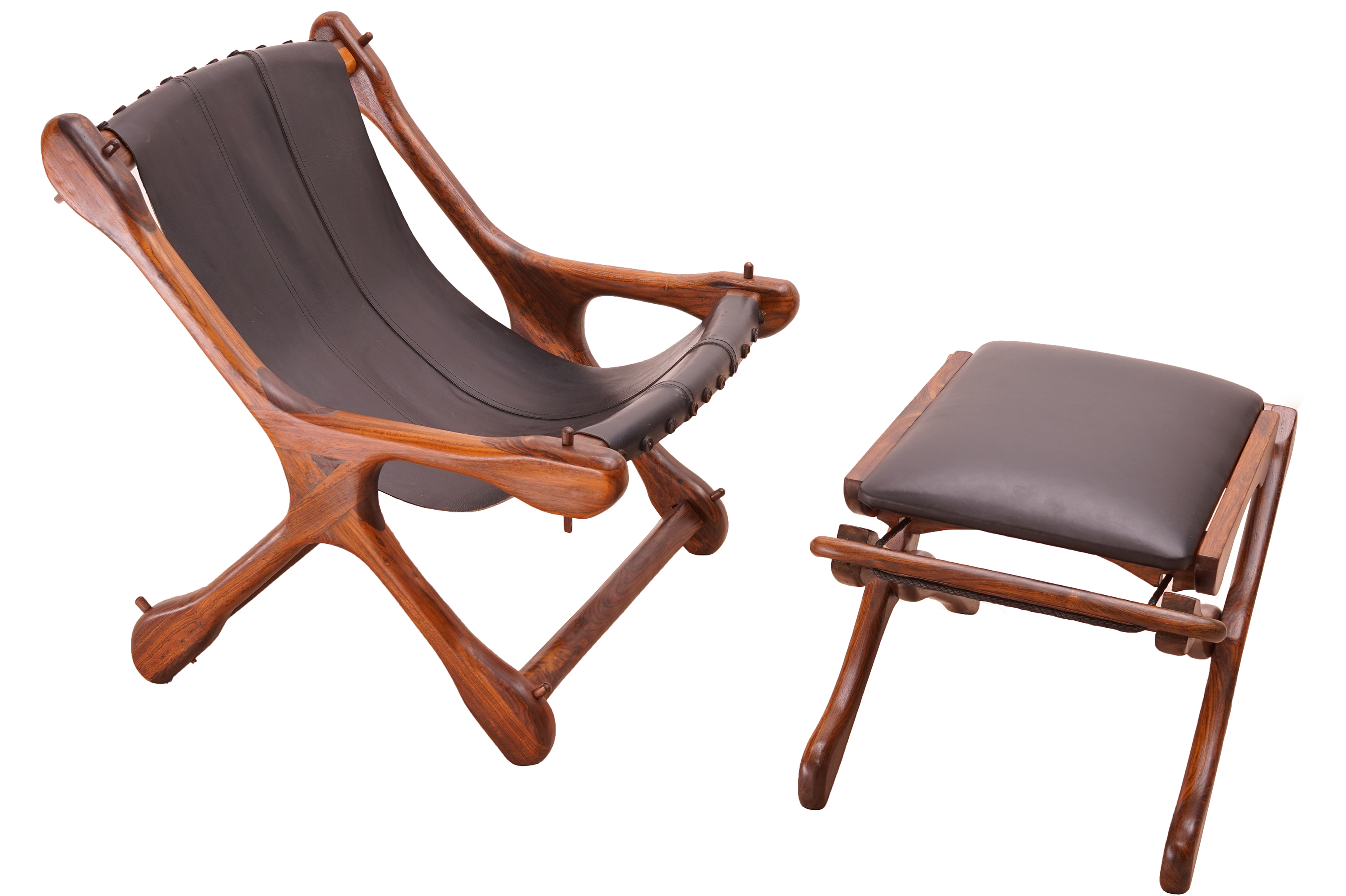 Sling Chair with Ottoman by Don Shoemaker