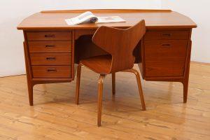 Scandinavian Modern Teak Desk Svend Aage Madsen