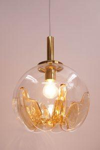 Mazzega Murano Glass Ball Pendant